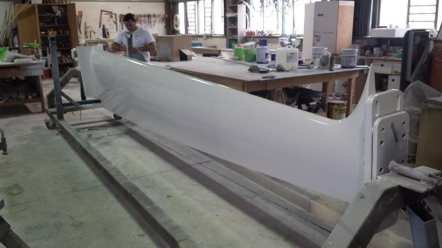 V70 Keel Fabrication Deep Draft Keel